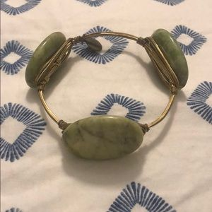 Bourbon and boweties bracelet: green stone